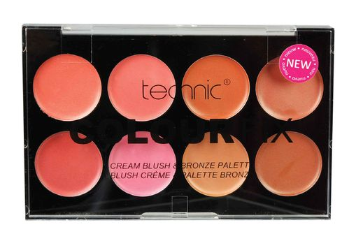 TECHNIC COLOUR FIX CREAM BLUSH& BRONZE PALETTE