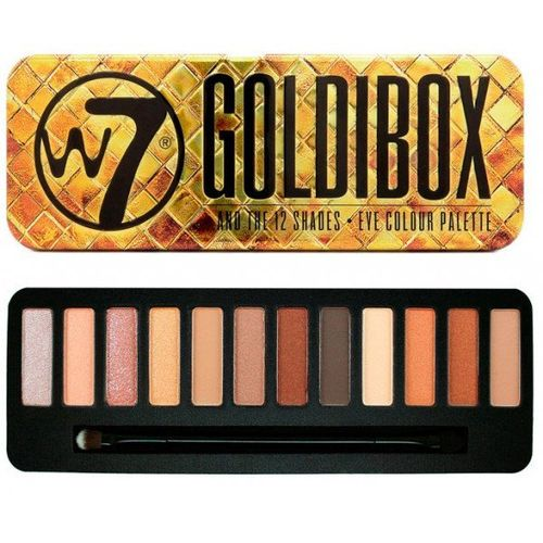 W7 GOLDIBOX PALETTE EYESHADOW TIN